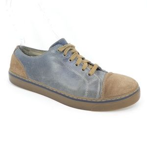 Rockport Two Tone Blue & Brown Leather Sneakers